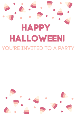 free printable candy corn invitations