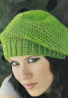 http://crochando.blogspot.com.es/2014/06/boina-crochet-punto-maiz.html