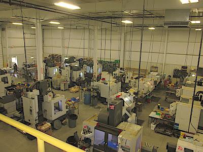 Rick Hinderer's factory floor