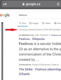 L'Oeuf de Pâques de Google Festivus