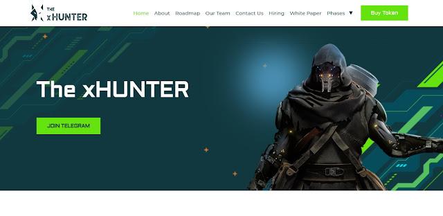 Screenshot Webiste  xHunter (XHT)