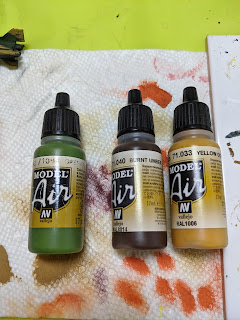 Paints used for the base coats