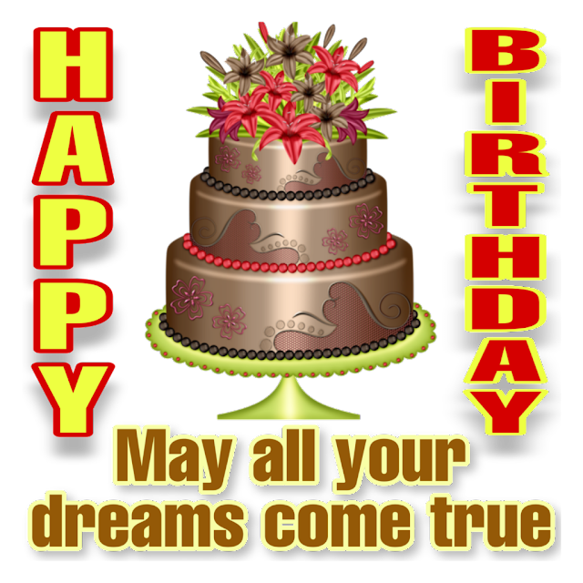 Happy Birthday png  cake with blessings