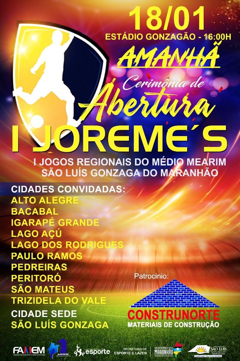 Abertura do Joreme's em São Luis Gonzaga vai contar com a presença de autoridades.