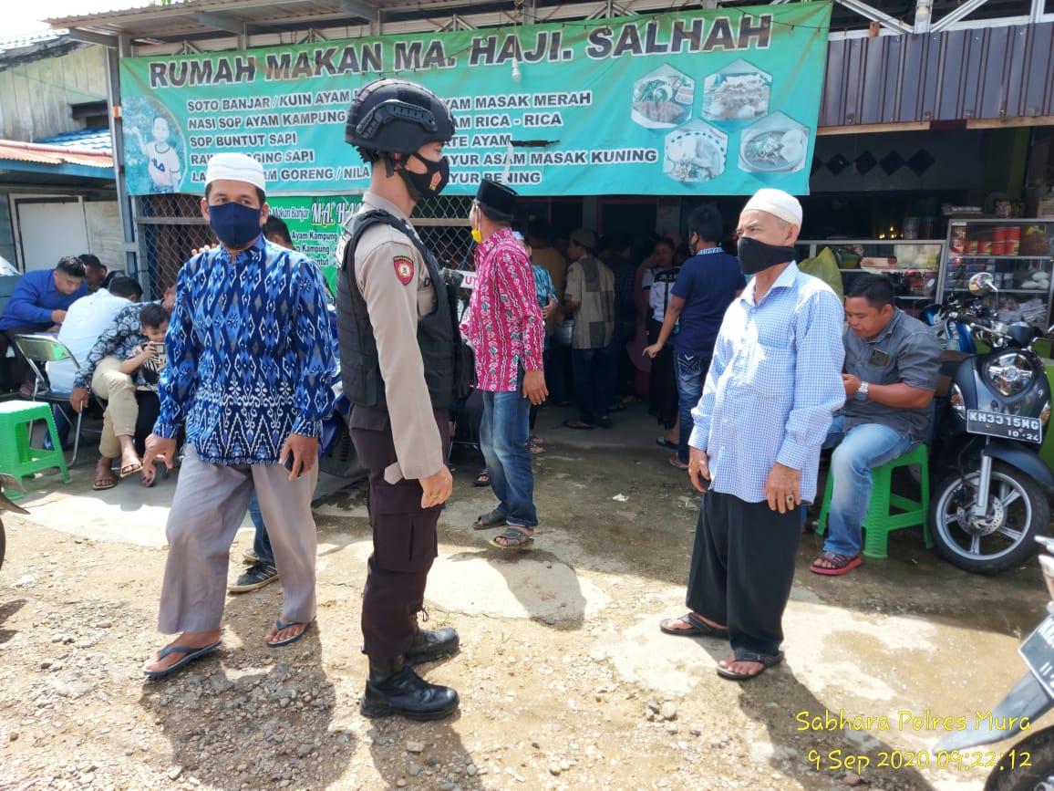 Patroli Dialogis, Satsabhara Polres Mura Pantau Protokol Kesehatan Masyarakat