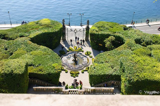 Il bel giardino davanti a Villa Carlotta