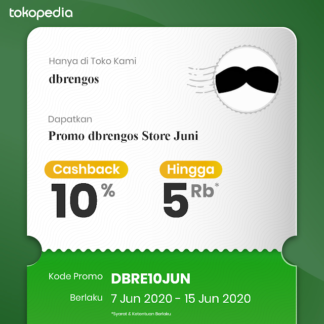 Voucher Tokopedia 7-15 Juni 2020 dari dbrengos Store