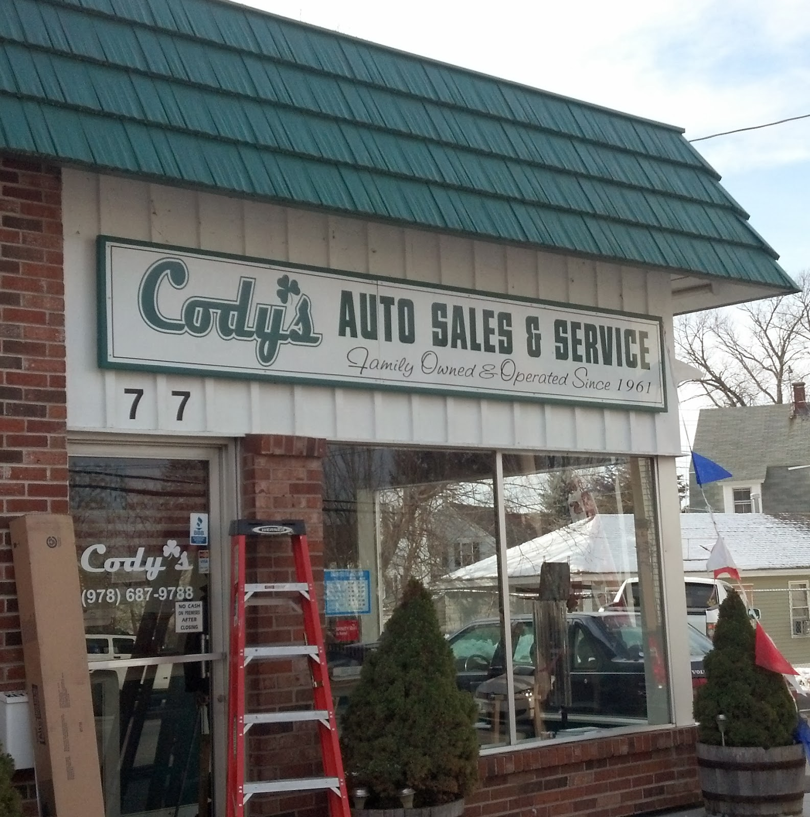 Cody's Auto Sales and Service Storefront Signage