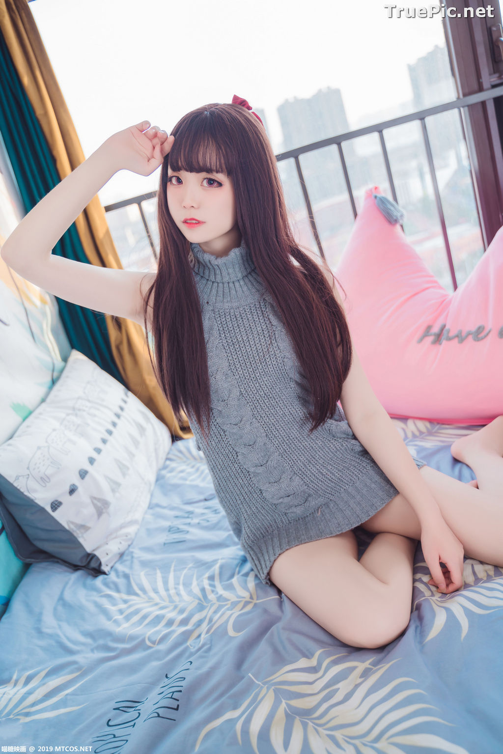 Image [MTCos] 喵糖映画 Vol.030 – Chinese Cute Model – Open Back Sweater - TruePic.net - Picture-18