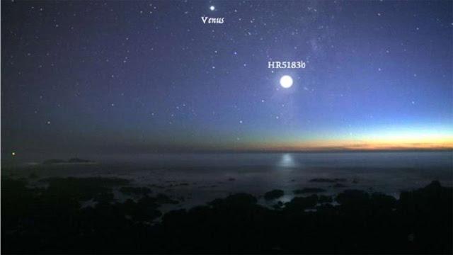 Planeta HR 5183 b 15x mais brilhante do que Venus