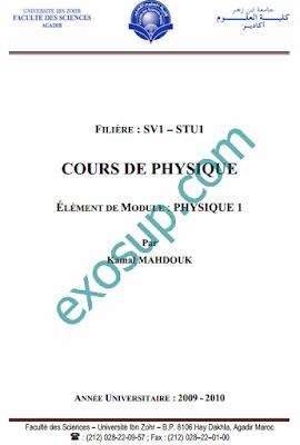 COURS DE PHYSIQUE 1 sv1 stu1 svtu1 svt1