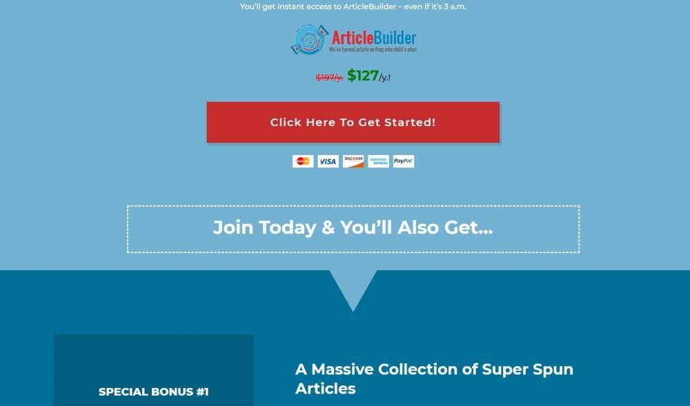 Free Article Builder Online