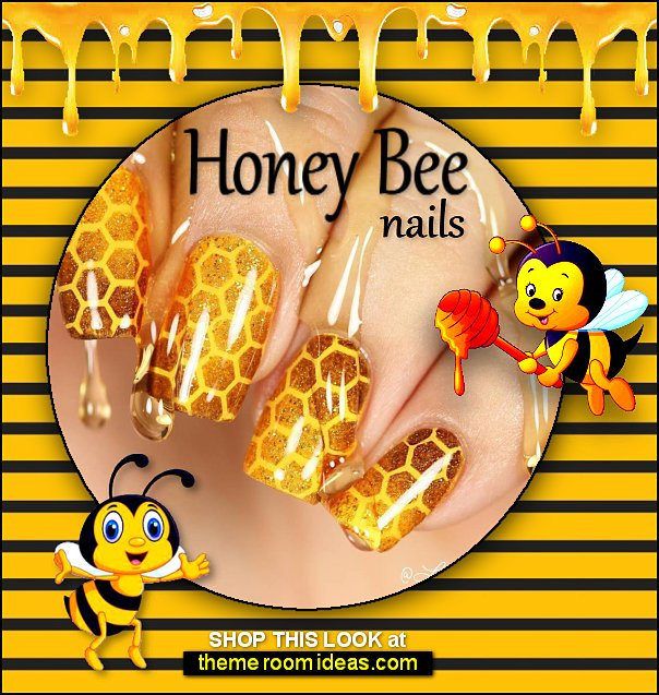 honey bee decals bee nail stencil beehive decal Honeycomb nail stencils Honeycomb Nail Art honey bee nails
