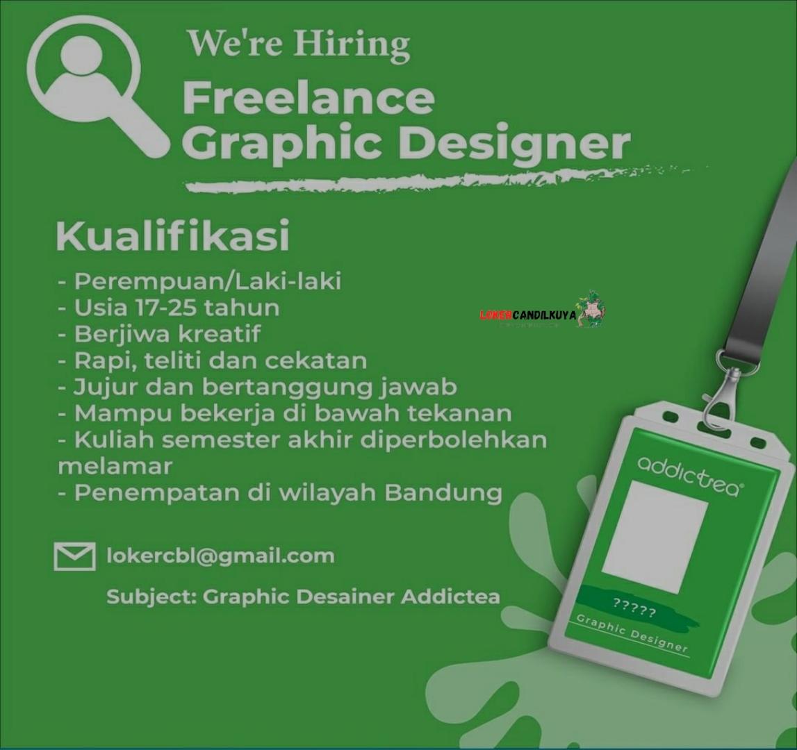 Lowongan Kerja Graphic Designer Addictea Bandung