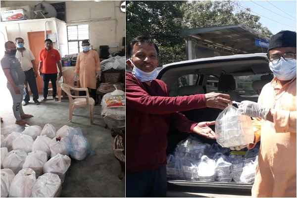 faridabad-sewa-bharati-distribute-food-in-shiv-durga-vihar-news