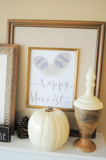 Affordable fall mantel ideas