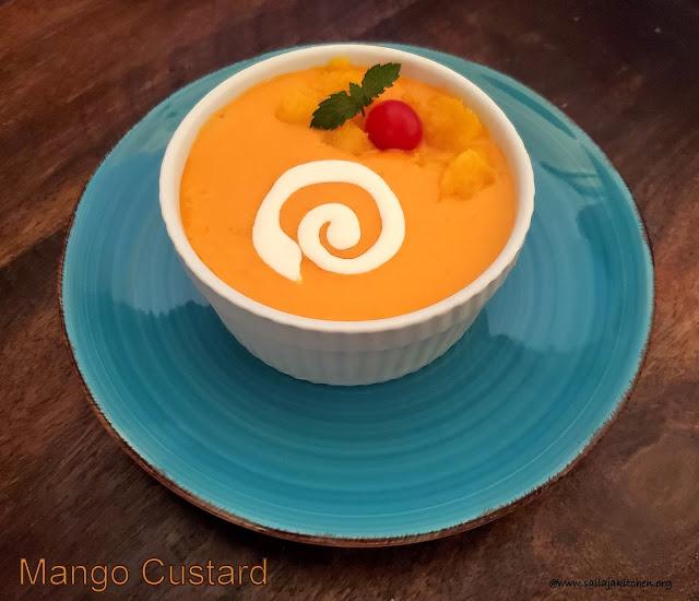images of Mango Custard Recipe / Easy Mango Custard Recipe / Mango Recipes