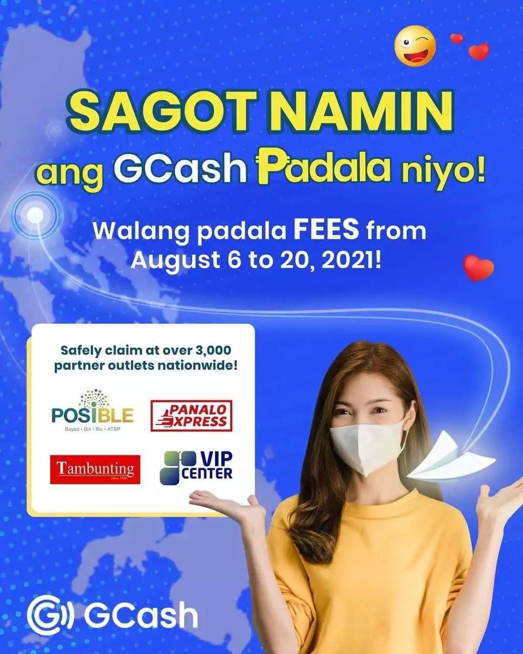GCash is waiving their GCash Padala fees