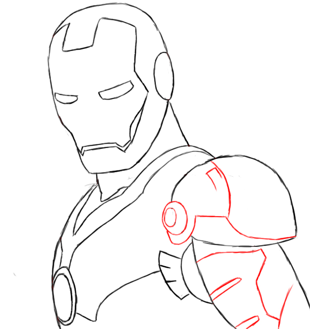 How To Draw Iron Man - Draw Central