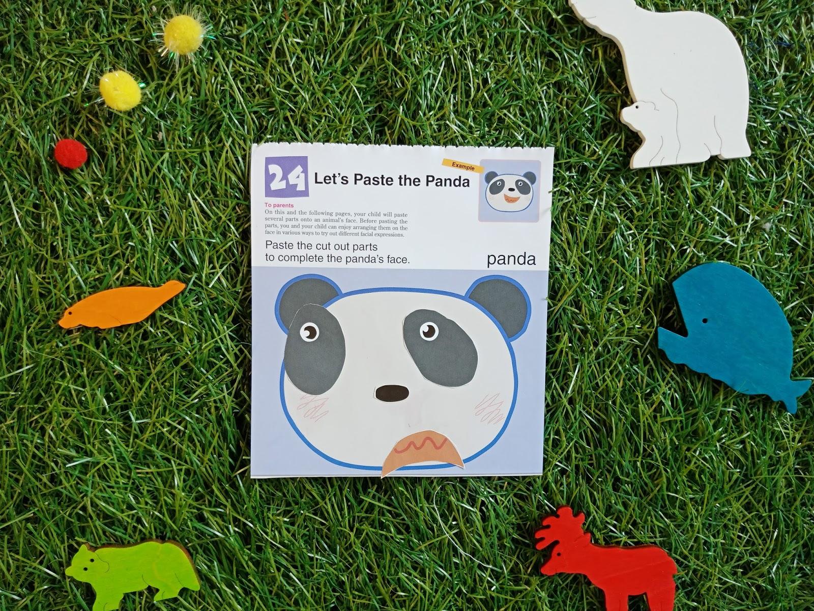 Kreatifitas anak dan kemampuan pemosisian bentuk akan ditingkatkan sesuai urutan worksheet Selain itu melalui belajar menempelkan stiker atau bagian