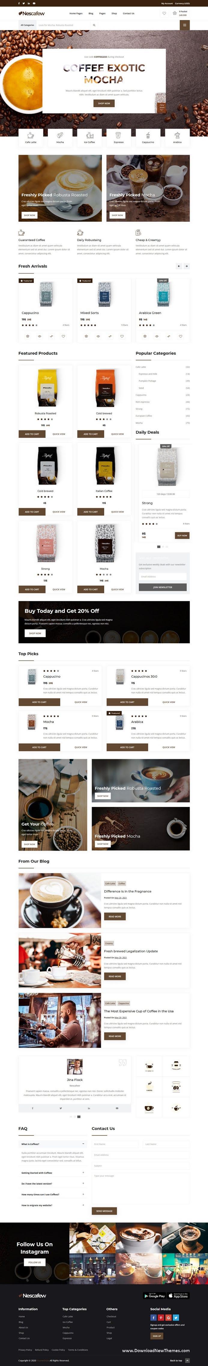 Best Coffee Shop Website Template