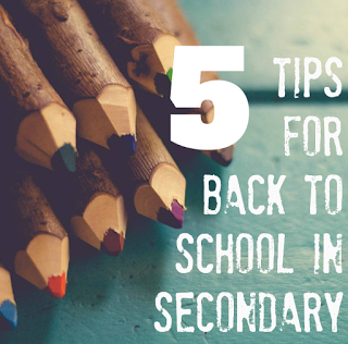 5 Back to School Tips for the Secondary Classroom