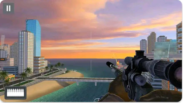 لعبة القنص الشهيرة   Sniper 3D Assassin :free Games آخر إصدار للأندرويد.