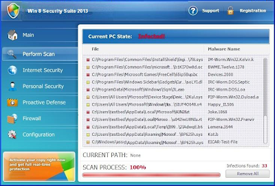 "Beware of Fake-Antivirus ""Win 8 Security System"""
