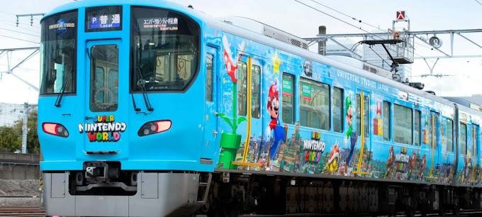 Japão ganha trem temático de Super Nintendo World