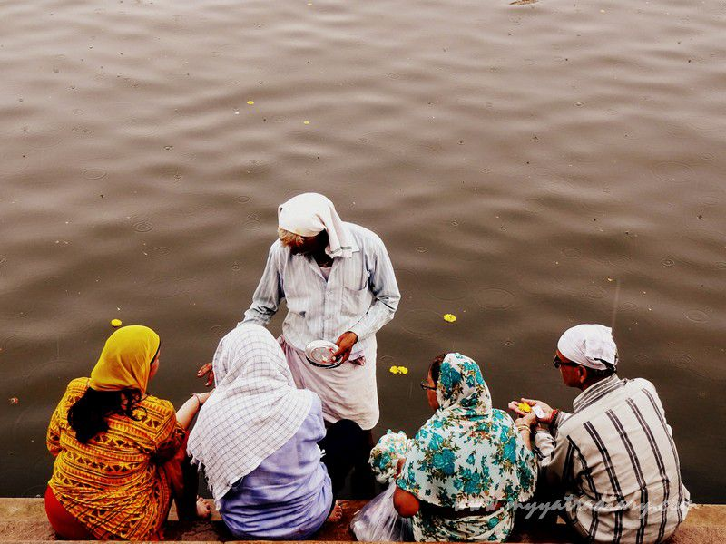 Offering prayers to the creative forces in Nature - River Ganga