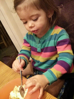 Youngest and her crumble