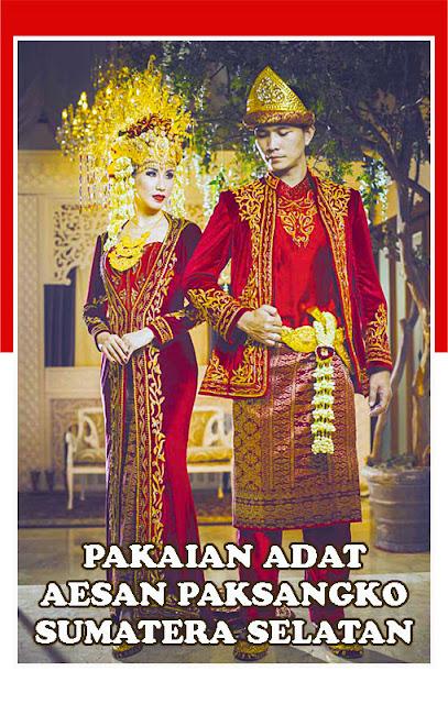 Gambar Pakaian adat Aesan Paksangko Sumatera Selatan