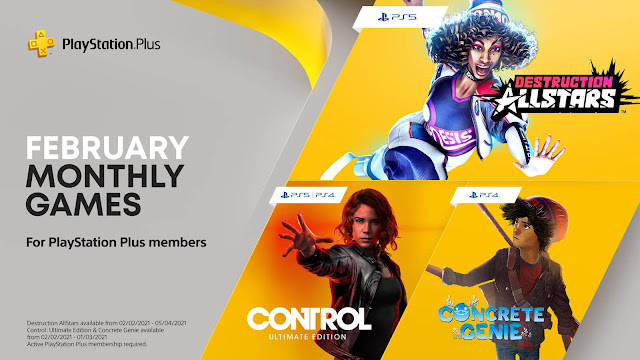playStation plus destruction allstars control ultimate edition concrete genie ps4 plus ps5 sony interactive entertainment action-adventure vehicular combat lucid games remedy entertainment 505 pixelopus sie worldwide studios
