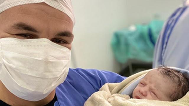 Em dia de testes para Covid-19 no Coritiba, Ruy comemora nascimento da terceira filha