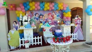 Decoração de aniversário Princesas Disney