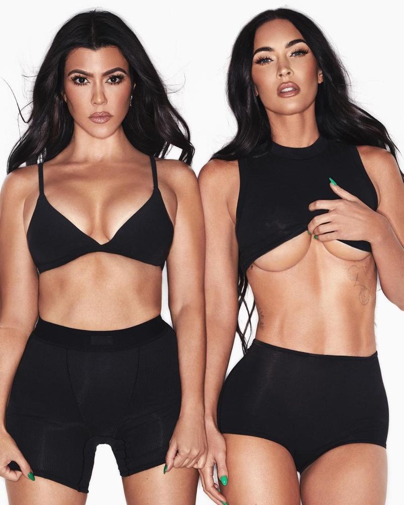 Kourtney Kardashian and Megan Fox pose in their underwear for SKIMS campaign