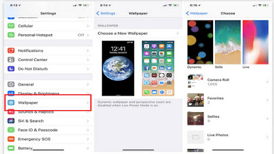 How to Change Wallpaper iPhone X Lock Screen Dynamic Still Live