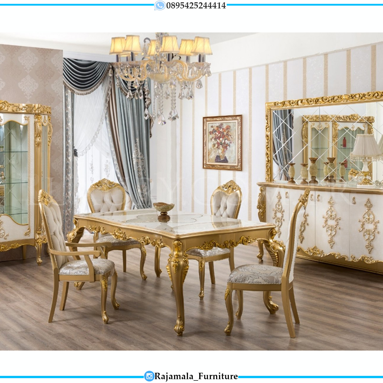 Desain Meja Makan Mewah Jepara Luxury Classic Wonderful Item RM-0058