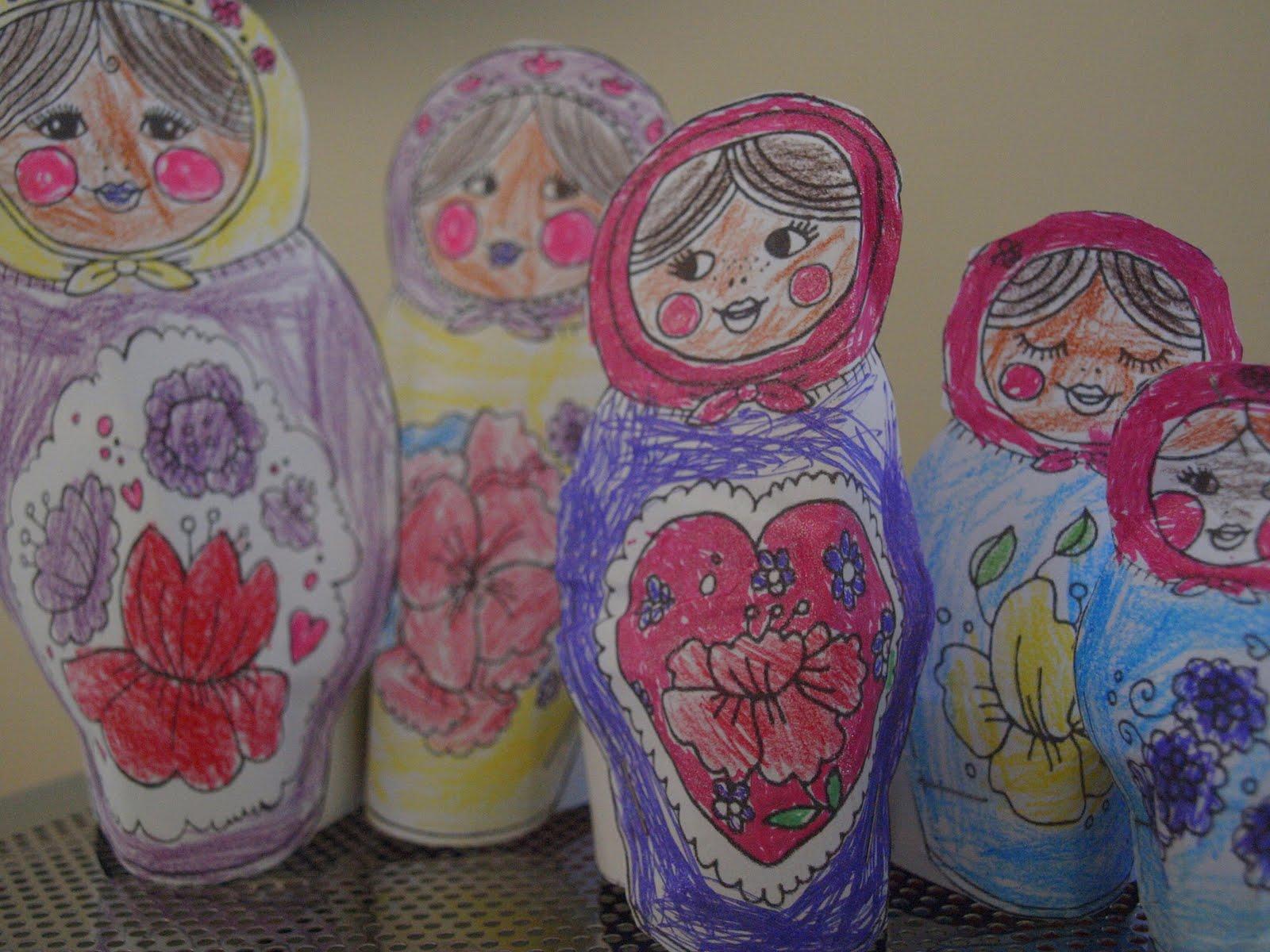 Printable Russian Nesting Dolls