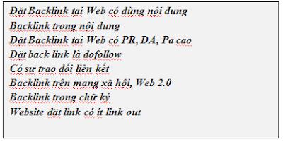 Khái quát về backlink trong seo offpage