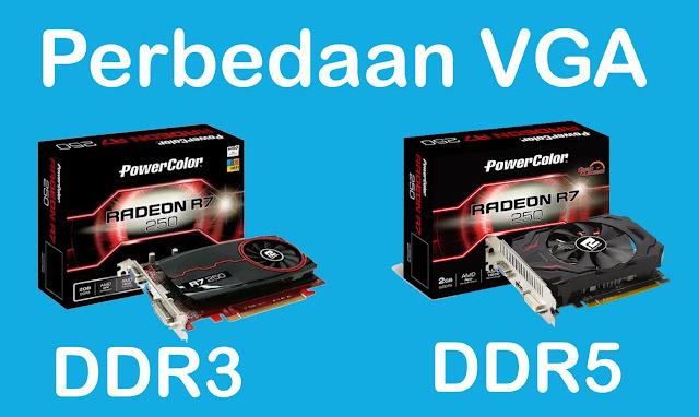 Contoh Produk Perbedaan VGA DDR3 dan DDR5