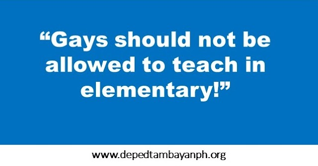 Professor asks DepEd to ban gay teachers in Elementary