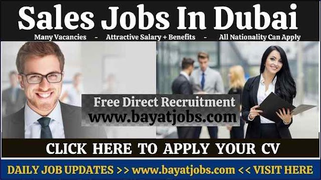 Sales Jobs in Dubai & Across UAE Vacancies ( Oct 2020 )