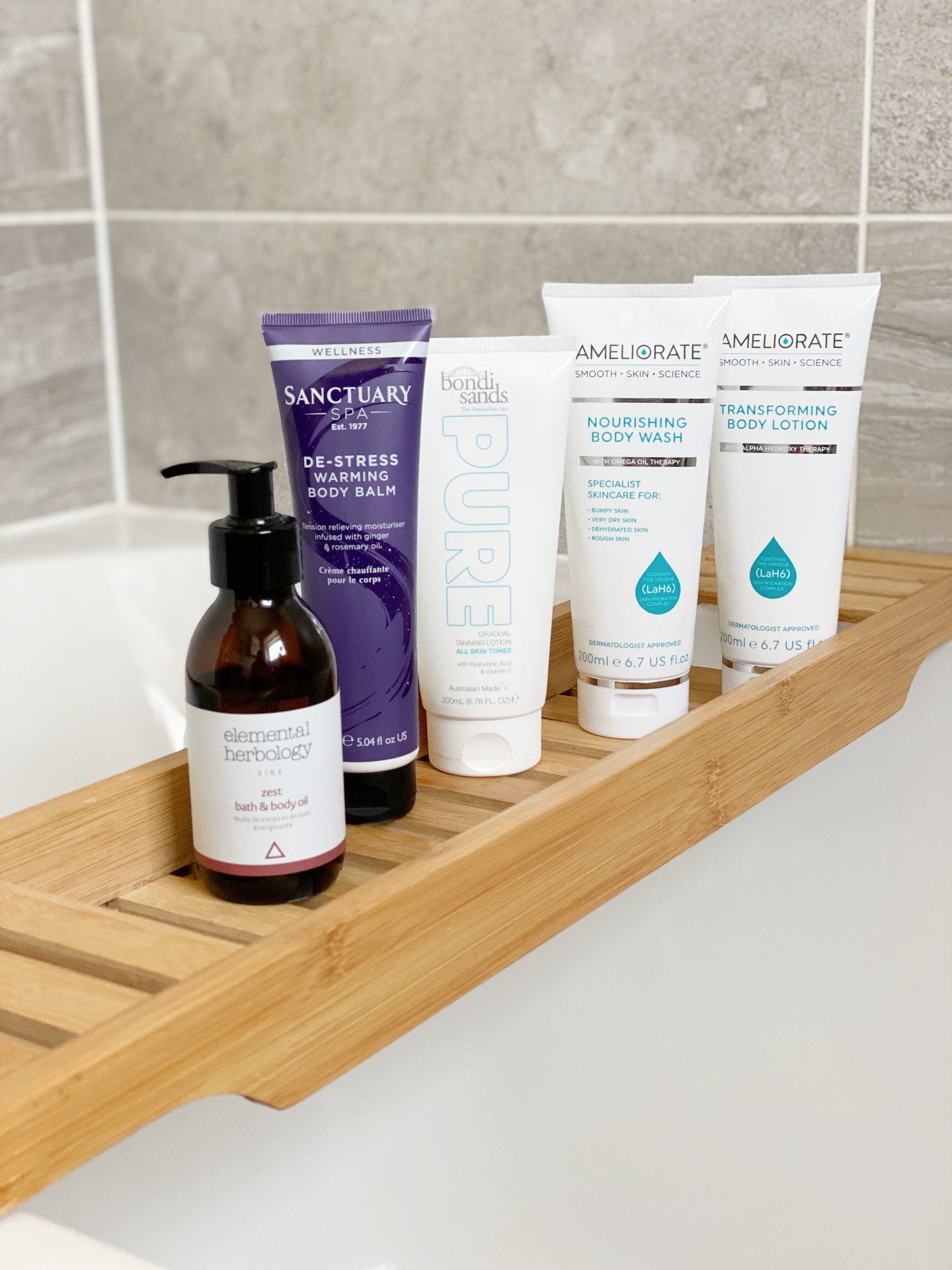 new in bodycare ft. ameliorate, elemental herbology, sanctuary spa