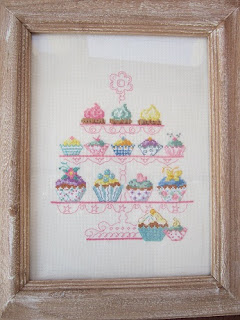 bordado, broderie, cross stitch, cupcakes, point croix, punto cruz
