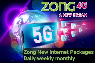 Zong internet Packages Daily,Weekly,Monthly