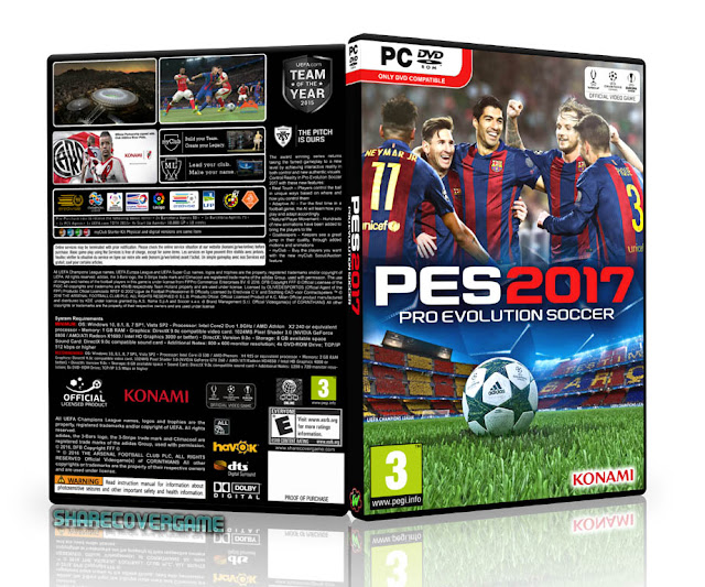 Pro Evolution Soccer 2017 Cover Box
