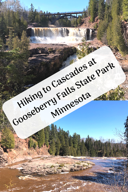 Hiking to Cascades at Gooseberry Falls State Park  Minnesota