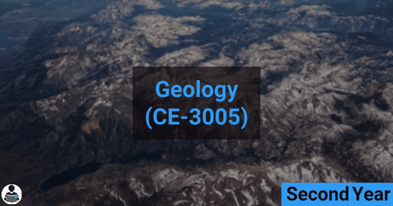 Geology (CE-3005) RGPV notes CBGS Bachelor of engineering