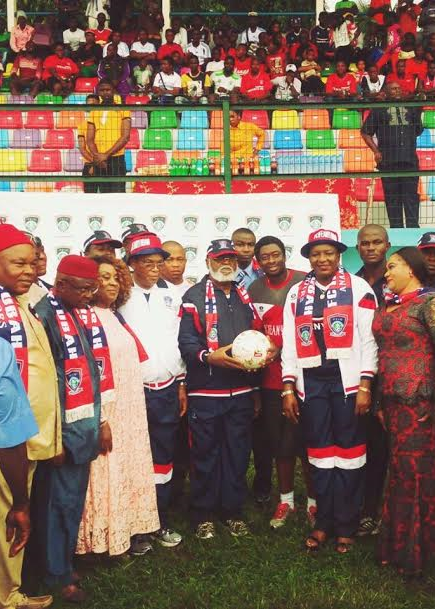Photos: Fmr Head of State, Gen. Abdulsalami Abubakar visits Dr. Ifeanyi Ubah's games village